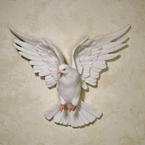 Windborne Dove Wall Accent White