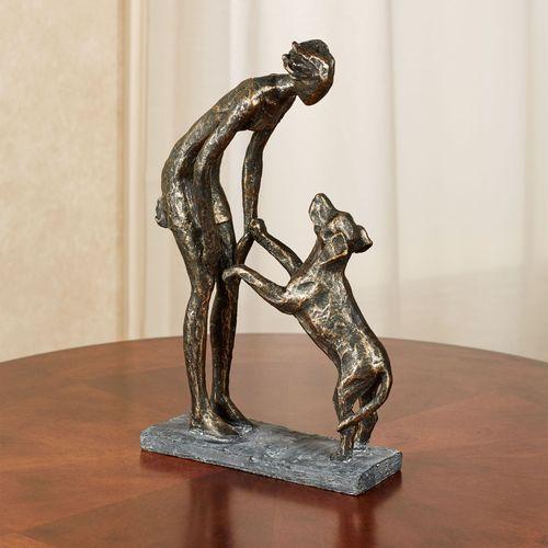 Good Dog Table Sculpture Bronze