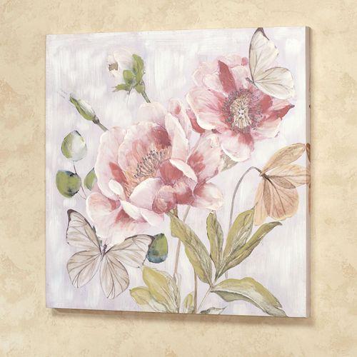 Sweet Harmony Floral Canvas Wall Art Multi Pastel