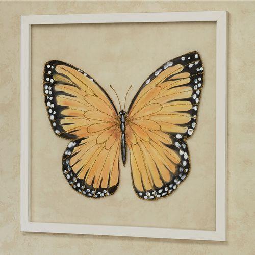 Monarch Butterfly Framed Wall Art Yellow