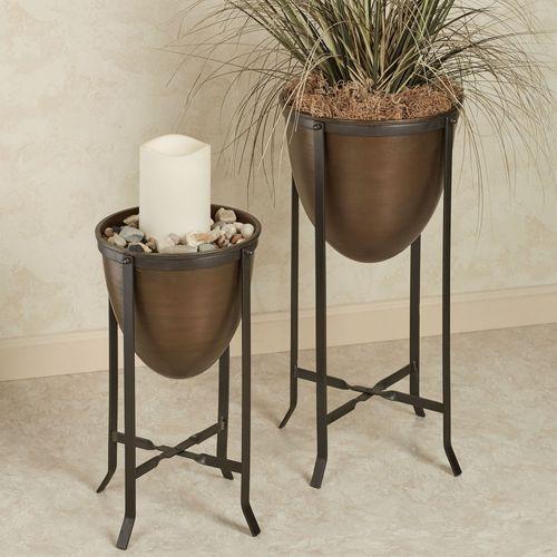 Bergen Floor Vases Bronze Set of Two