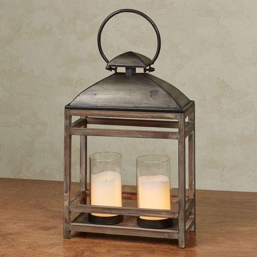 Blaine Candleholder Lantern Gray Small