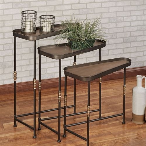 Brownyn Nesting Tables Bronze Set of Three