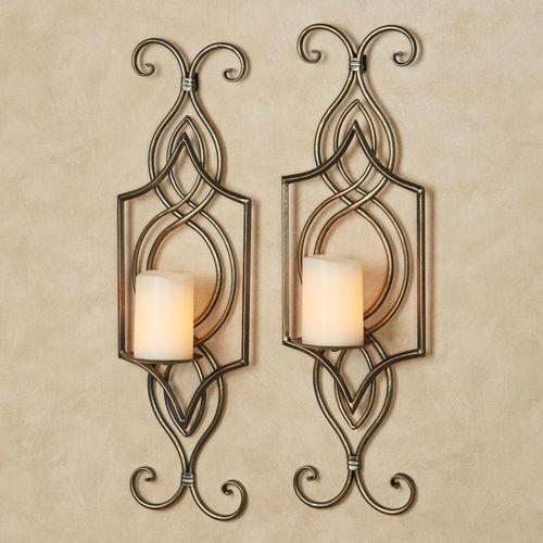 Carmen Wall Sconce Pair Light Bronze