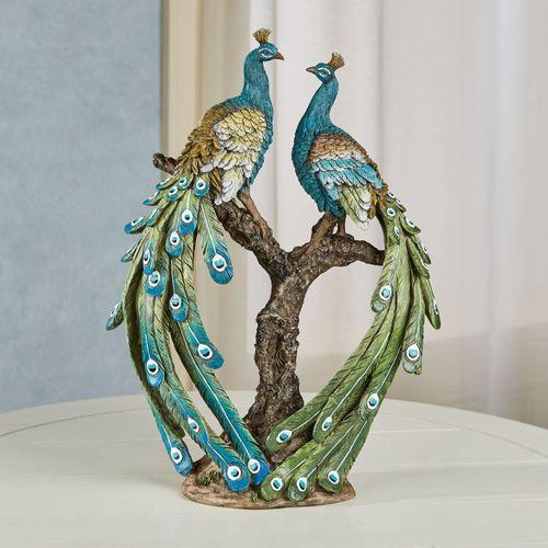 Ardent Peacock Table Sculpture Multi Jewel