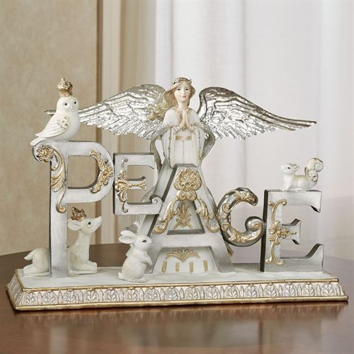 Peace Angel Table Sculpture Multi Metallic