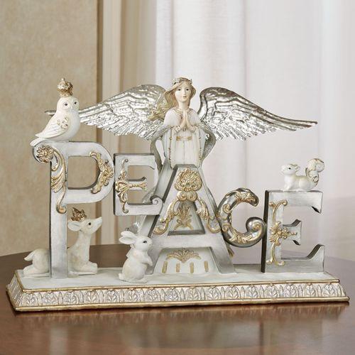Peace Angel Table Sculpture Multi Metallic