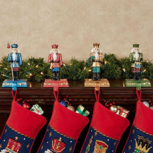 Nutcracker Stocking Holders Multi Jewel Set of Four