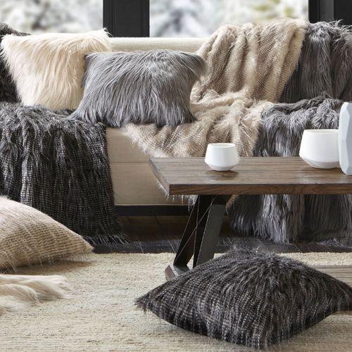 Edina Faux Fur Throw Blanket 50 x 60