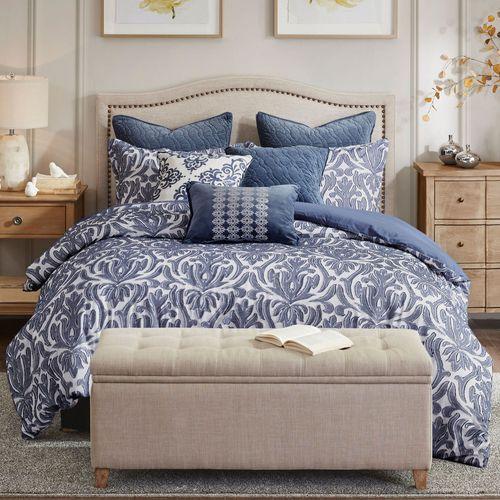 Maison Comforter Bed Set Dark Blue