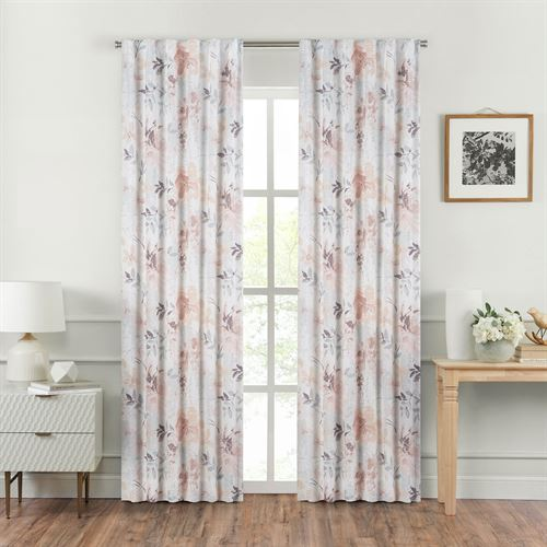 Liana Tailored Curtain Pair Multi Pastel 82 x 84