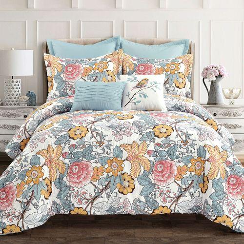 Avignon Comforter Bed Set Light Blue