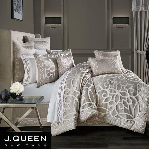 Deco Comforter Set Silver