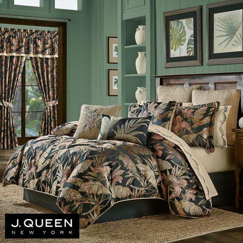 Martinique Comforter Set Black