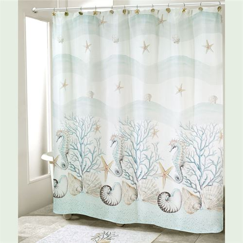 Coastal Terrazzo Shower Curtain Ivory 72 x 72