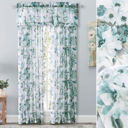 Summerhill Sheer Floral Curtain Panel