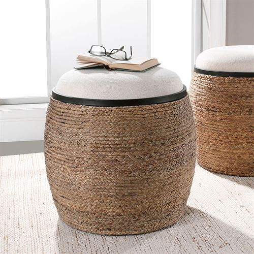 Island Accent Stool Beige