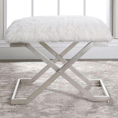 Farran Small Silver Bench
