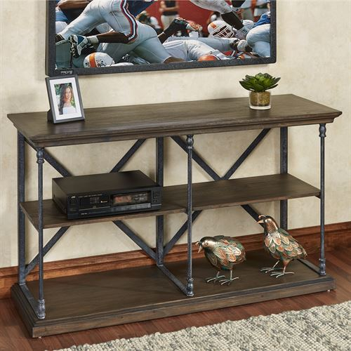 Chase Media Console Table Walnut