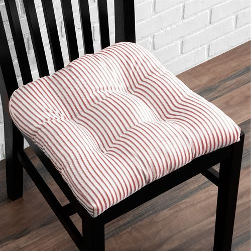 Dupont Striped Chair Pad Cushion 18 Square