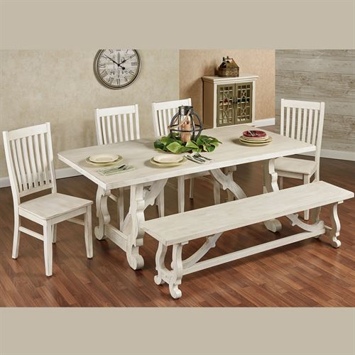 Alexis Dining Table Weathered White
