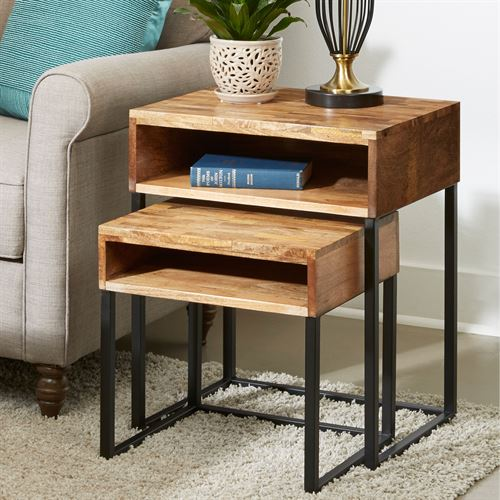 Haden Nesting Tables Natural Set of Two
