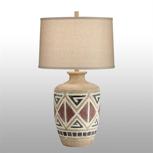 Ames Southwest Table Lamp Multi Earth