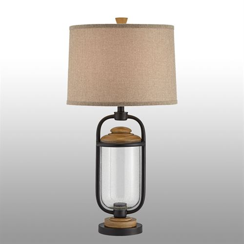 Ridge Table Lamp Black
