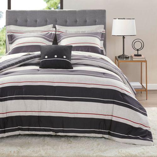 Dalton Comforter Bed Set Gray