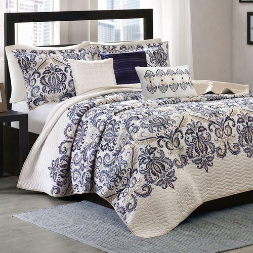 Cali Coverlet Bed Set Blue
