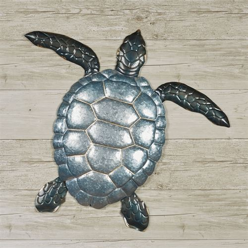 Tranquil Sea Turtle Wall Art Gray
