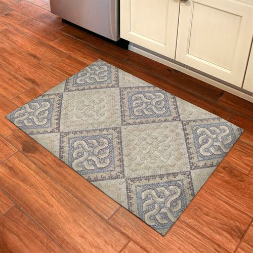 Mosaic Tile Sole Comfort Mat Tan 32 x 22