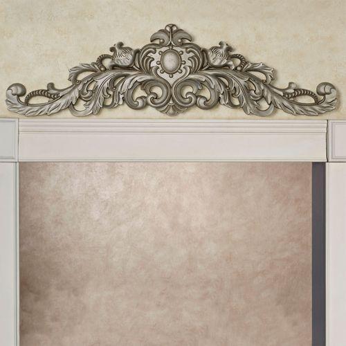 Aradella Door Topper Aged Silver