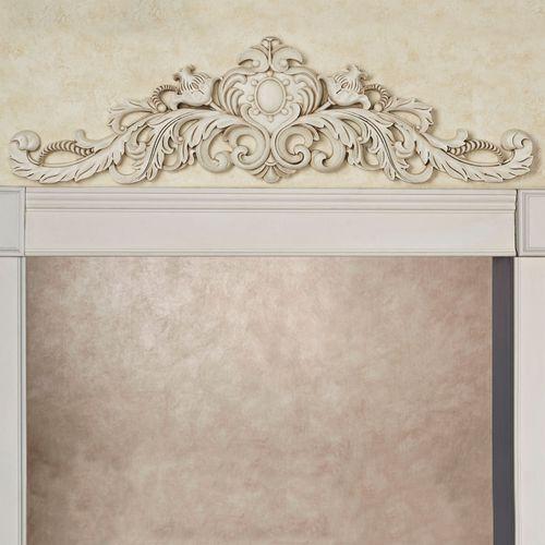 Aradella Door Topper Old World White