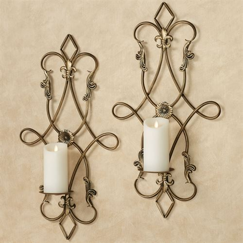 Silvana Wall Sconce Pair Gold