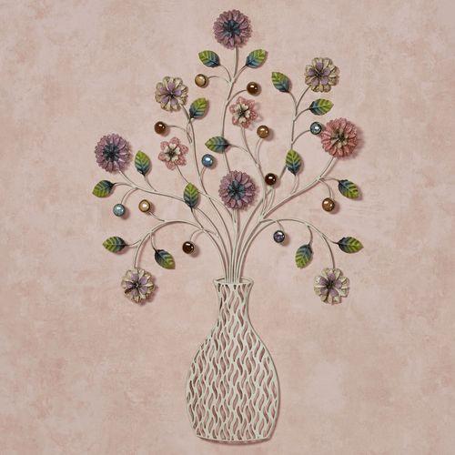 Laurel Vase Floral Wall Art Multi Pastel