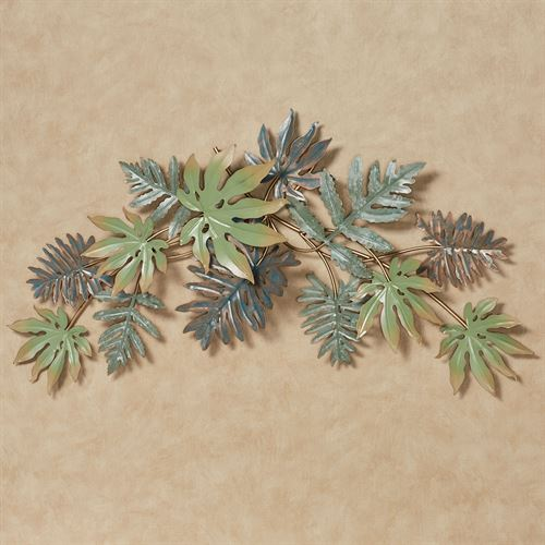 Tropical Leaves Wall Topper Green