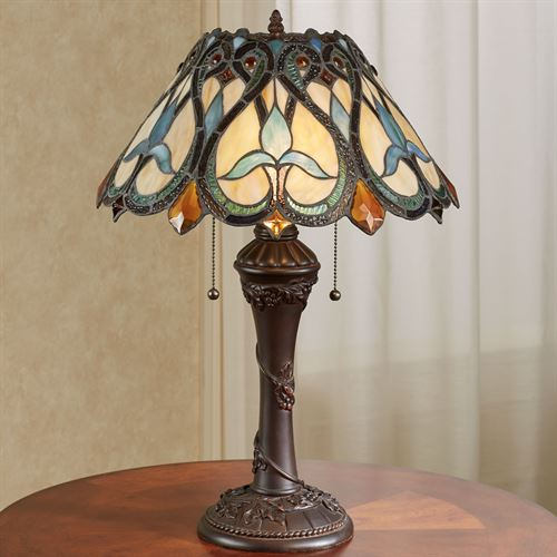 Evanthe Stained Glass Table Lamp Multi Jewel