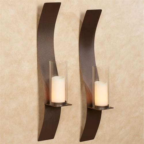Sinuous Wall Sconce Pair Rich Bronze