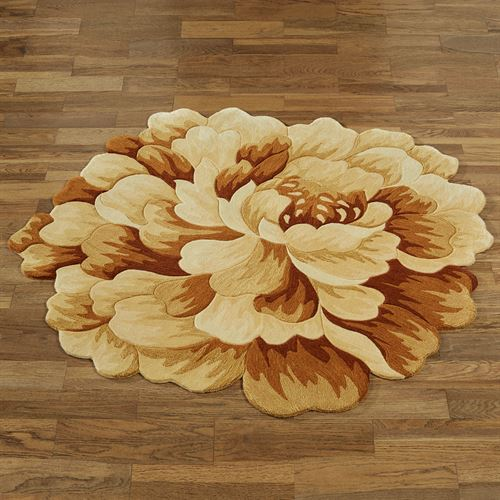 Felicity Floral Round Rug Cream