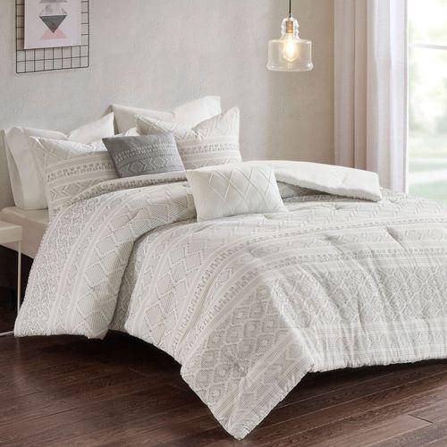 Lizbeth Comforter Bed Set Off White
