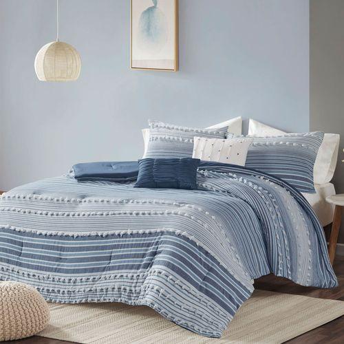 Calum Comforter Bed Set Navy