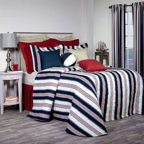 On Course Nautical Bedspread Navy
