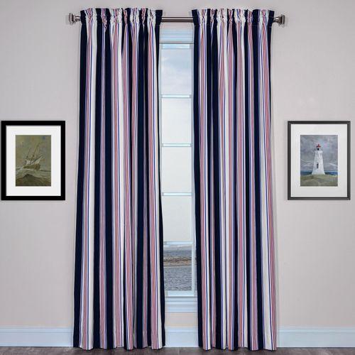 On Course Curtain Pair Navy 96 x 84