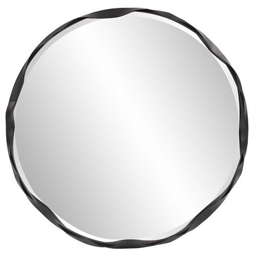 Harrington Round Wall Mirror Black