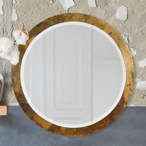 Mallory Round Wall Mirror Copper