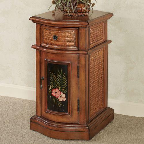 Tropical Paradise Storage Cabinet Honey Maple