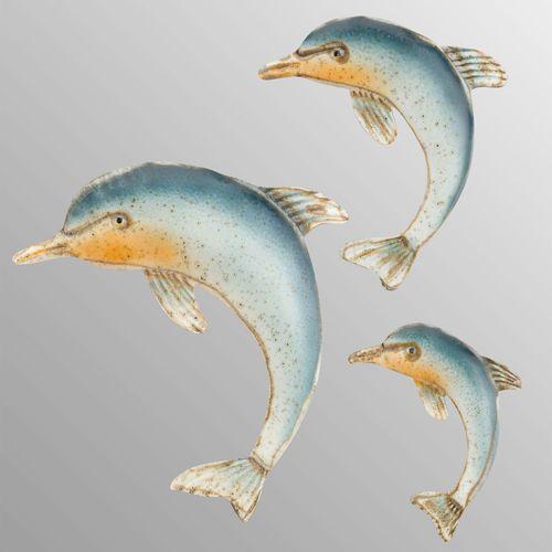 Dolphin Wall Art Blue Three Piece Set