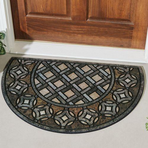 Deco Tile Slice Doormat Multi Warm 35 x 23