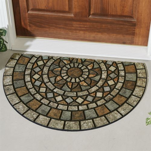 Mosaic Mythos Slice Doormat Multi Warm 35 x 23